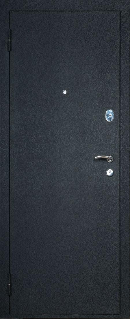 дверь металлическая входная черная
