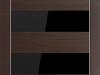 Profildoors, модель 8 Z Венге Кроскут,Черный глянцевый лак