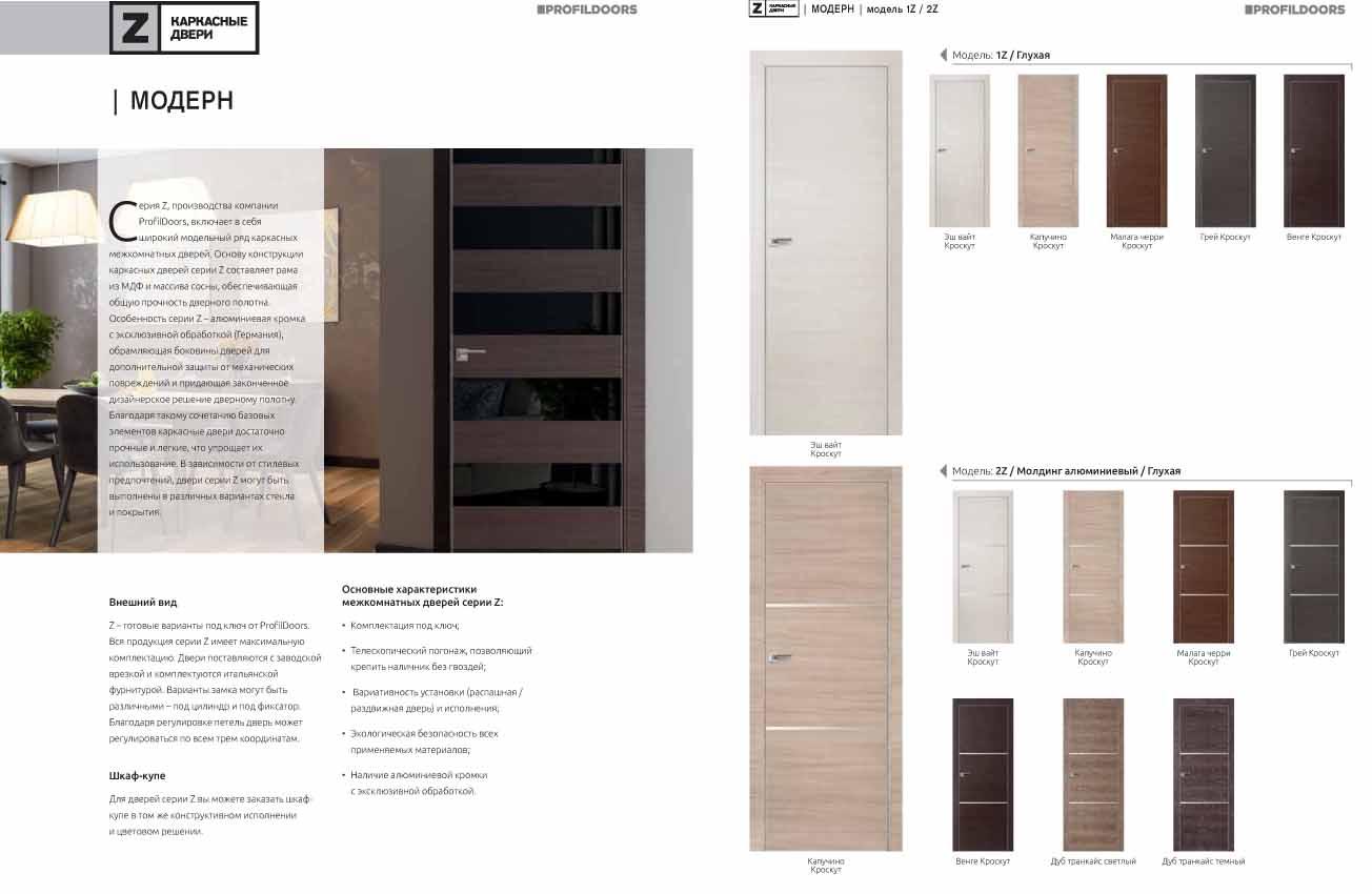 """межкомнатные Двери Profil Doors серия """"Z"""" с алюминиевой кромкой"""