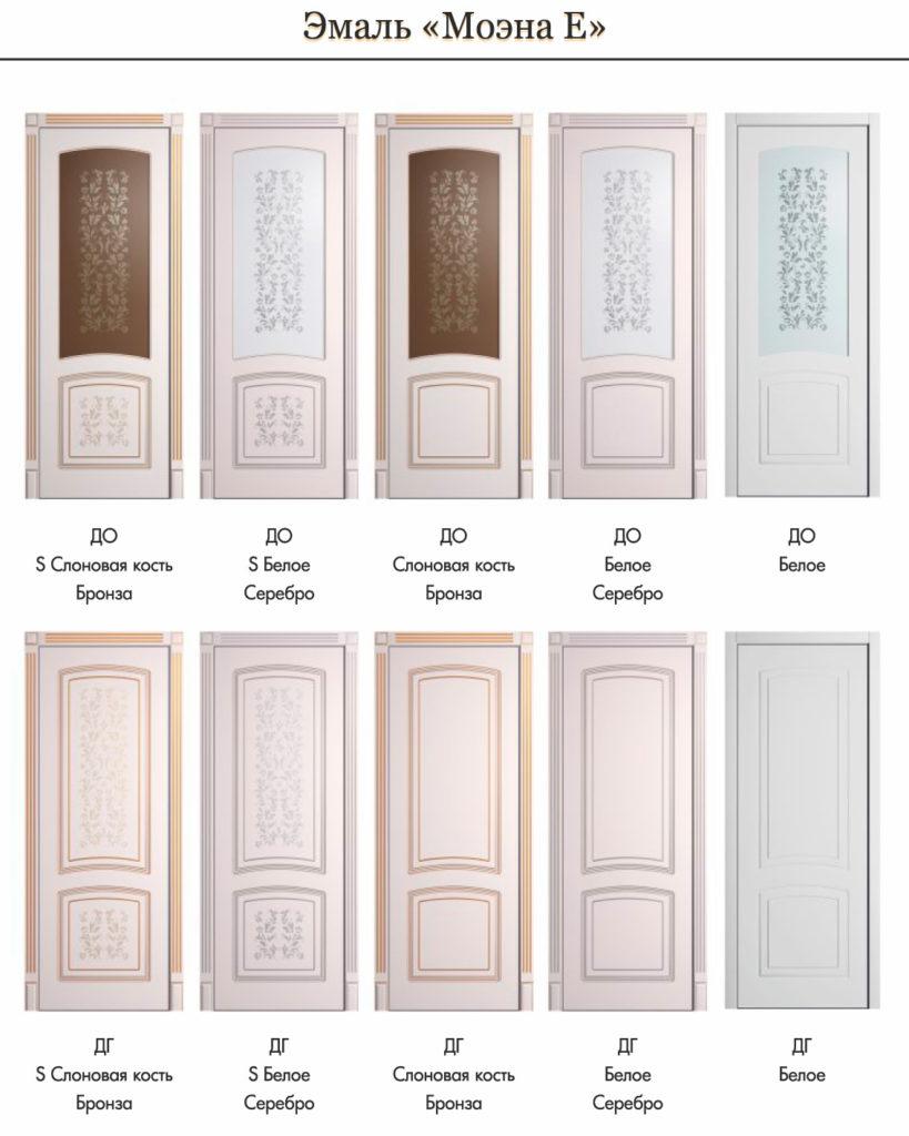 двери межкомнатные с покрытием эмаль с патиной