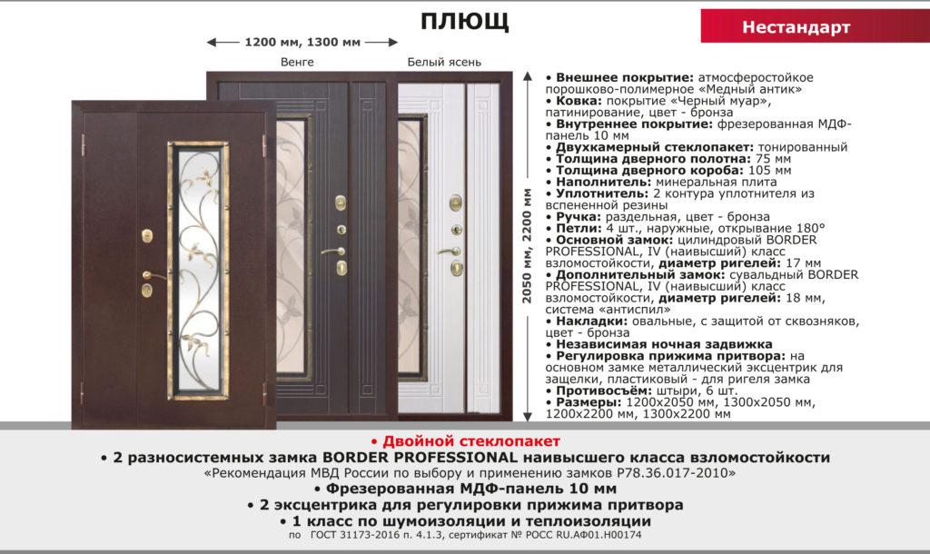 Коттеджные двери со стеклопакетом