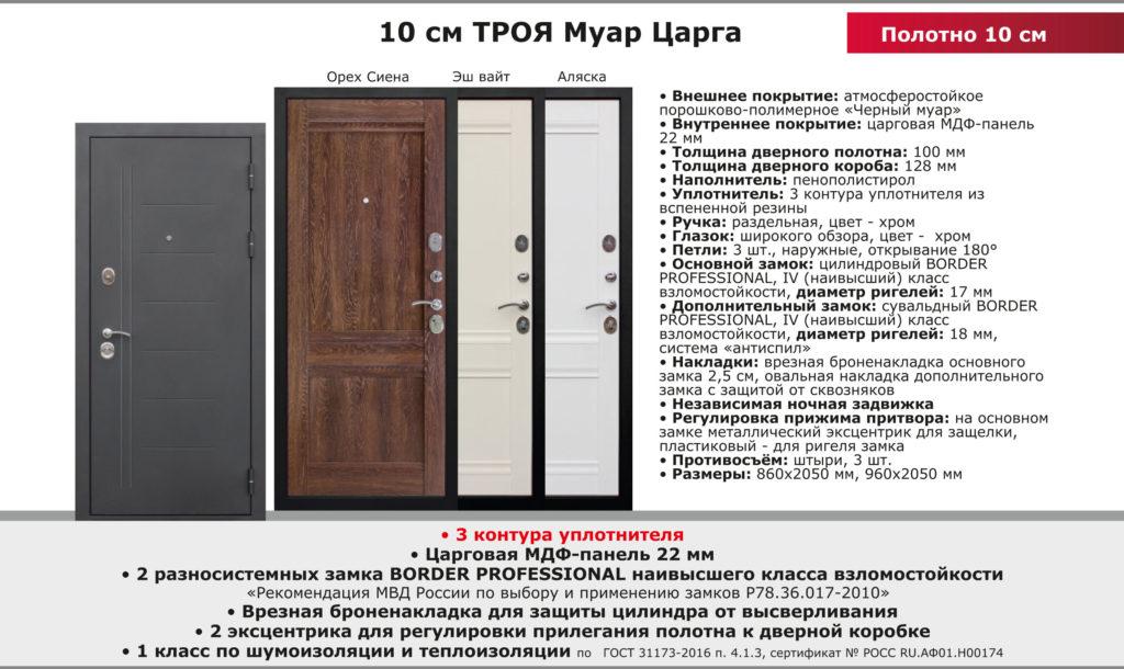 Дверь входная Троя муар царга