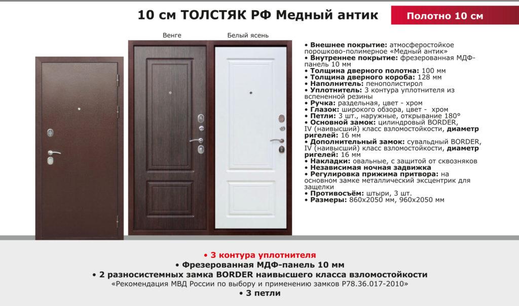 Дверь входная Толстяк РФ
