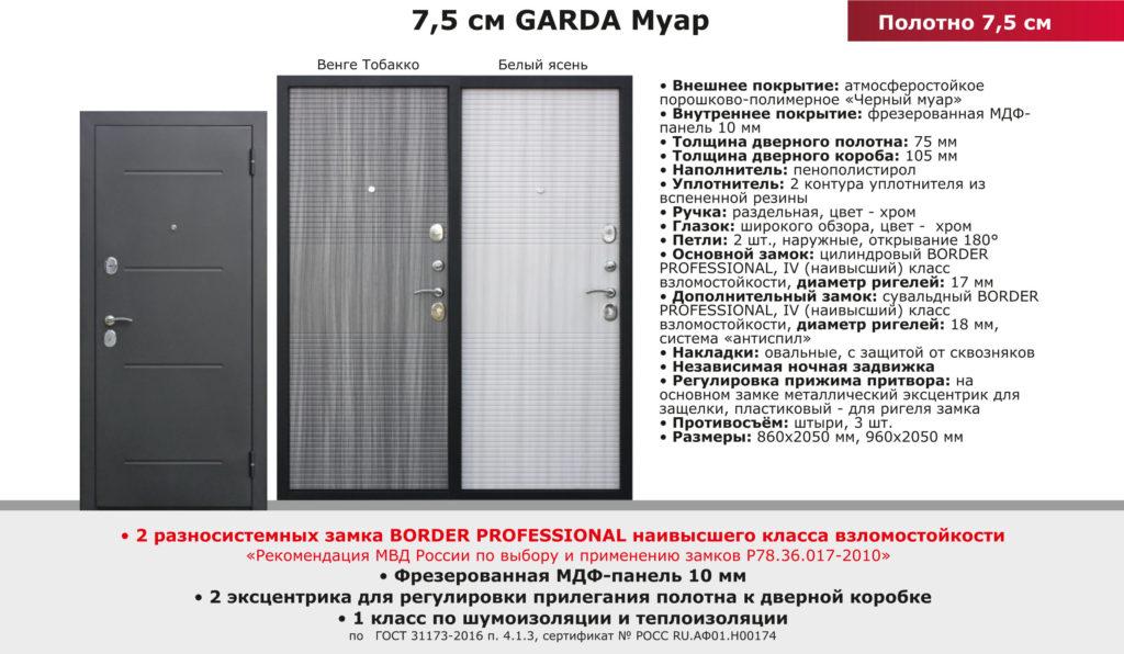 Дверь Входная GARDA Муар