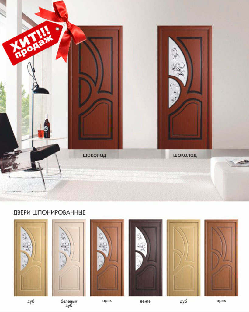 Межкомнатные двери с покрытие м шпон Велес