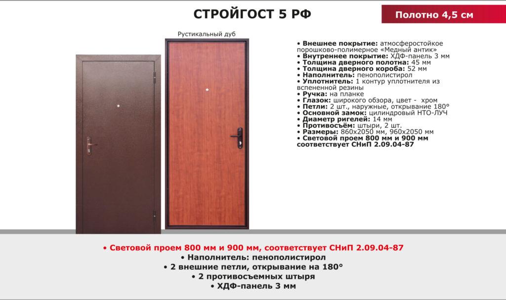 Дверь входная Стройгост 5 РФ