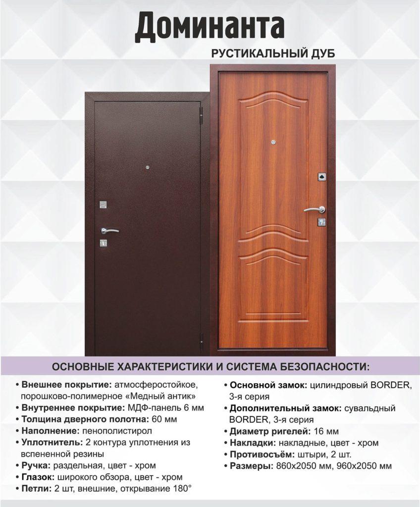 Дверь входная Доминанта цена 10000