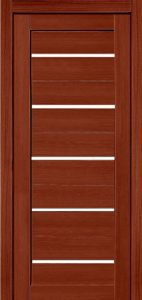 Дверь межкомнатная со стеклом. Катрин 22 - темный орех. Цена 3120. Покрытие эко-шпон.