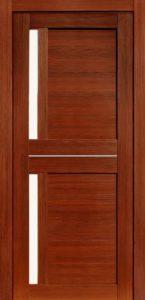 Дверь межкомнатная со стеклом. Катрин 3 темный орех. Цена 3250. Покрытие эко-шпон.