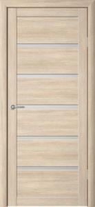 Дверь межкомнатная со стеклом. Катрин 22 - капучино. Цена 3120. Покрытие эко-шпон.
