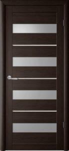 Дверь межкомнатная со стеклом. Катрин 25 - венге.    Цена 3380. Покрытие эко-шпон.