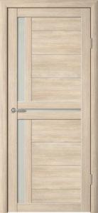 Дверь межкомнатная со стеклом. Катрин 3 - капучино. Цена 3250. Покрытие эко-шпон.