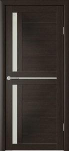 Дверь межкомнатная со стеклом. Катрин 2 - капучино. Цена 3250. Покрытие эко-шпон.