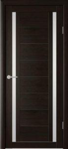 Дверь межкомнатная со стеклом. Катрин 4 - венге.    Цена 3250. Покрытие эко-шпон.