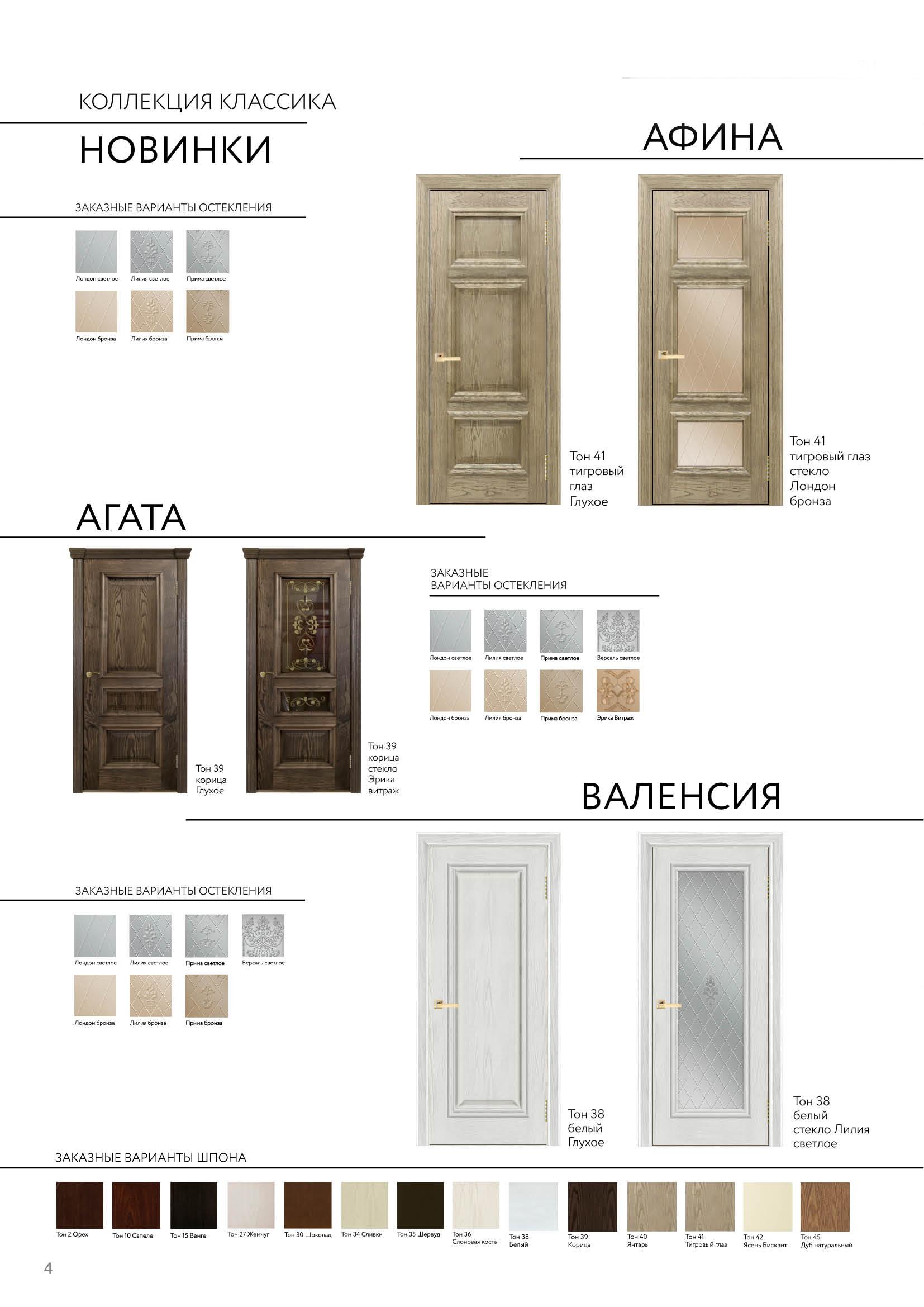 Межкомнатные Ульяновские двери модель Афина