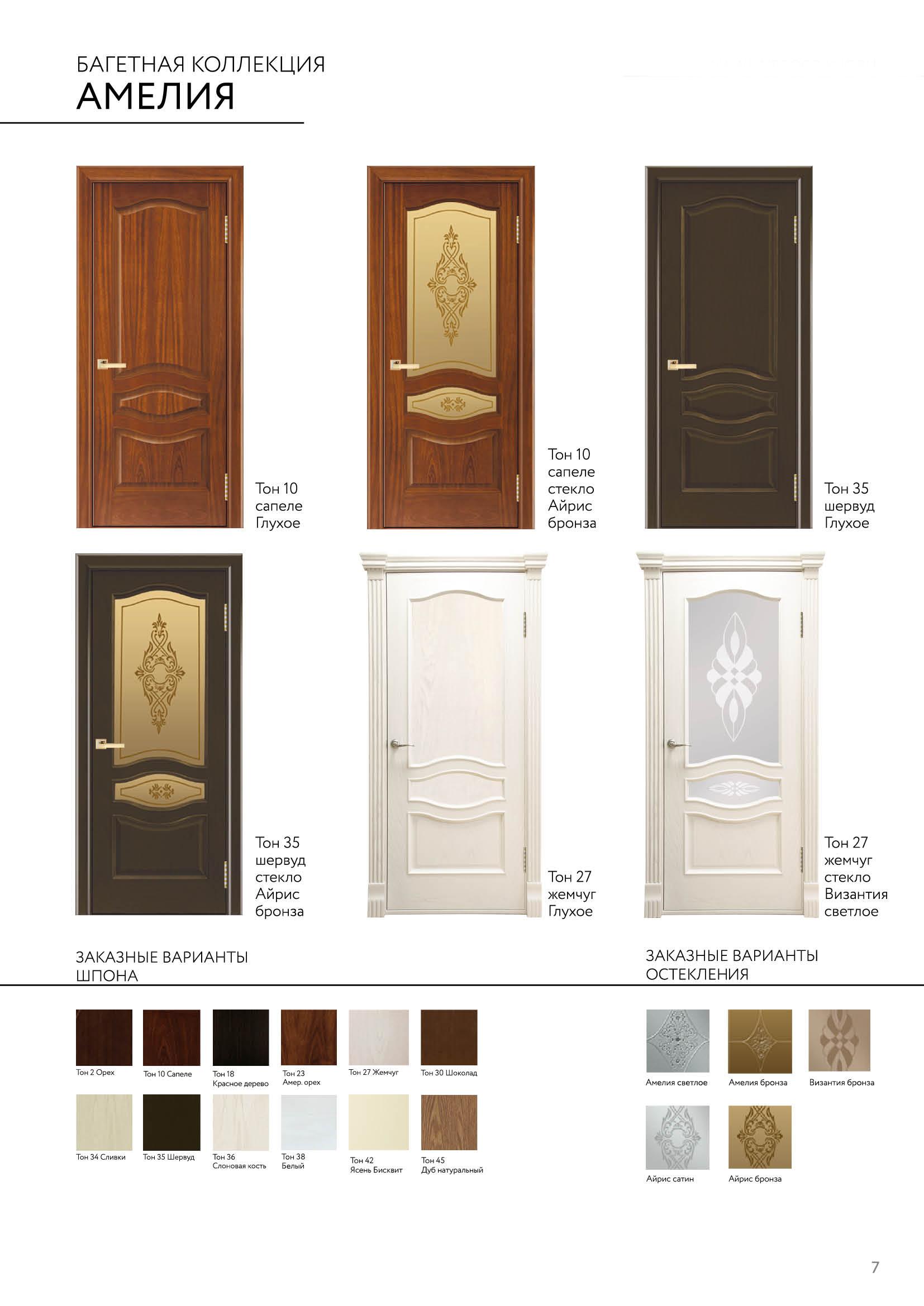Межкомнатные Ульяновские двери Амелия