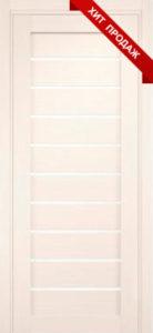 Дверь межкомнатная со стеклом. Катрин 22 - Белая листвиница    Цена 3120. Покрытие эко-шпон.