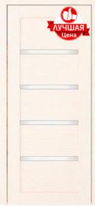 Дверь межкомнатная со стеклом. Анкона 9 - белая листвиница    Цена 3120. Покрытие эко-шпон.
