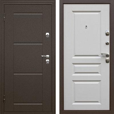 """Входная металлическая дверь """"Эстет"""" Матовый белый"""