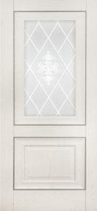 Дверь межкомнатная со стеклом. Катрин Классика-Дуб Айвори.