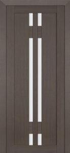 Дверь межкомнатная со стеклом. Катрин 15 - графит.