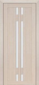 Дверь межкомнатная со стеклом. Катрин 15 - кремовая лиственница .