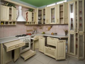 кухня угловая массив