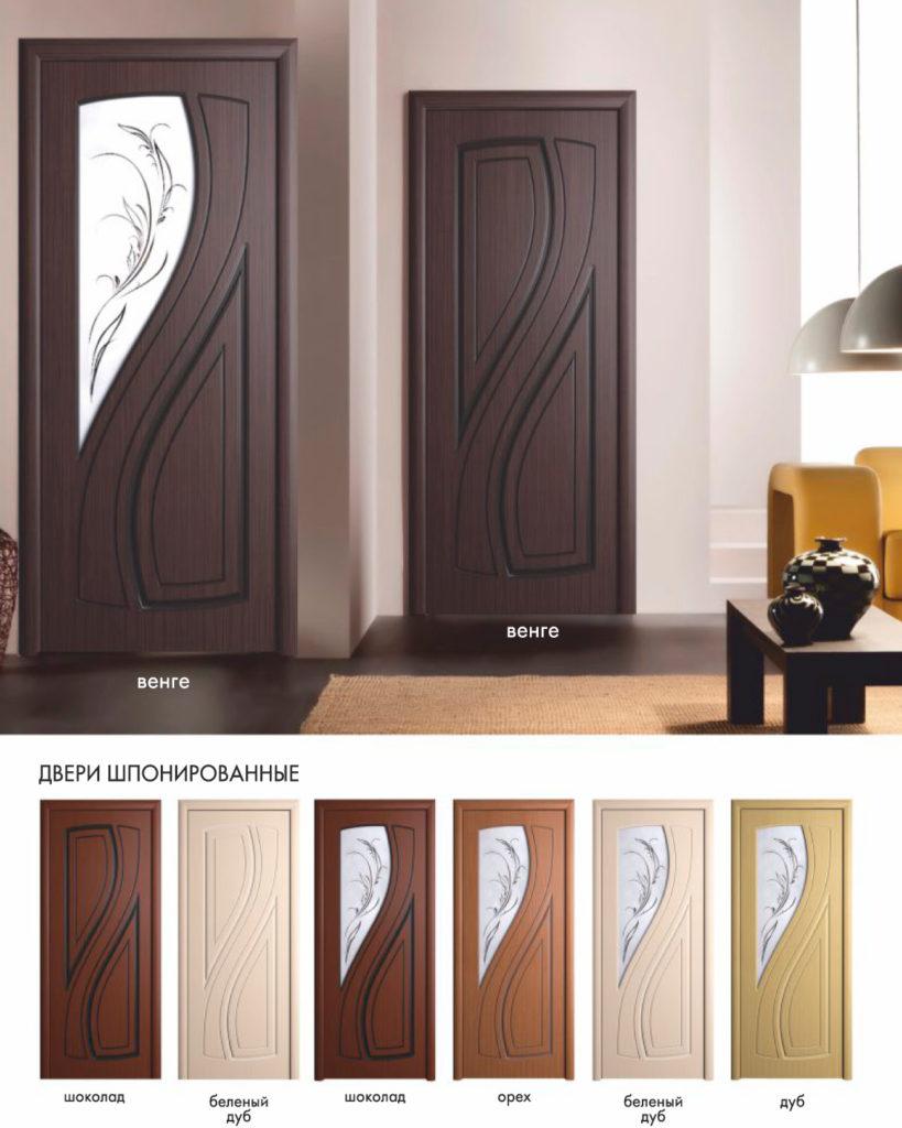 Дверь межкомнатная Лаура покрытие шпон