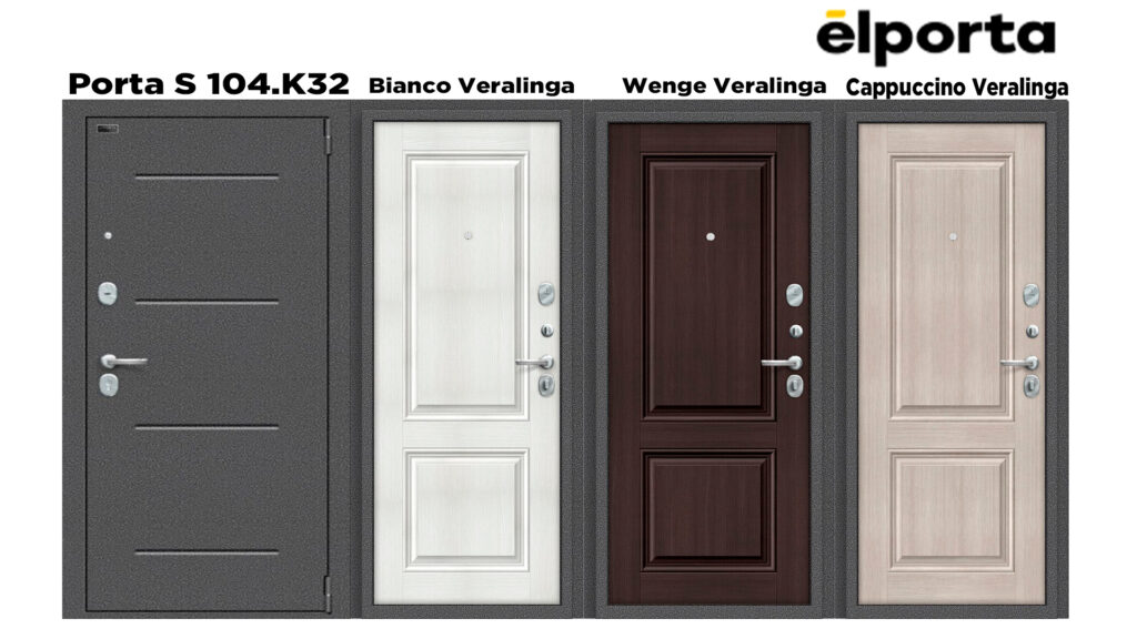 Входная дверь Эльпорта, Elporta Porta S 104. К32