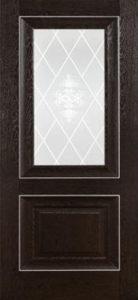 Дверь межкомнатная. Катрин Классика-Дуб Темный.